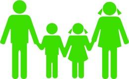 Famille verte ensemble illustration stock
