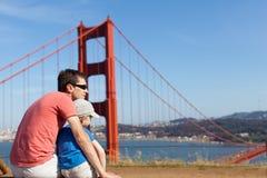 Famille voyageant en Californie image libre de droits