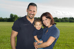 Family. Happy Family smiling at the camera Stock Photography