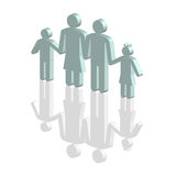 Family. Father,mother and children, family silhouettes icon Royalty Free Stock Photos