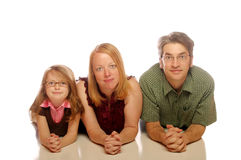 Family. Posing on an isolated white background Royalty Free Stock Photography
