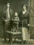 Family. Vintage portrait,family of the cossacks,1914 year,Russia stock photography