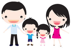 Family. Colorful concept of a family being together Stock Image