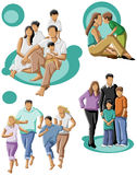 Family. Happy family with a mum and dad with their kids Royalty Free Stock Photos