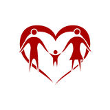 Family. With heart symbol Stock Image