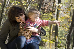 Family. Mother and the daughter on the nature Royalty Free Stock Photo