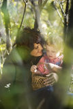 Family. Mother and the daughter on the nature Stock Photography