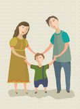 Family. Mum, the father and the child keep for hands Royalty Free Stock Images