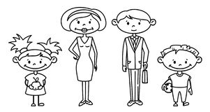 Family. Cute doodle family set Royalty Free Stock Photos