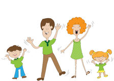 Family. Happy family mother father son daughter dance Royalty Free Stock Photography