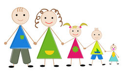 Family. Happy  family father, mother, daughter , son and baby Royalty Free Stock Photo