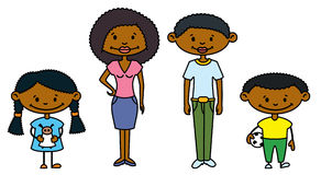 Family. Cute African-American Family (color version Stock Photography
