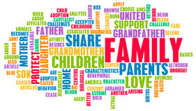 Family. As a Important Support Network for Love Royalty Free Stock Photography