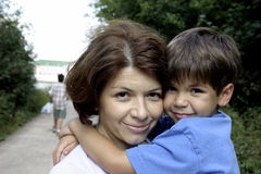 Family. Mother and son Stock Photo