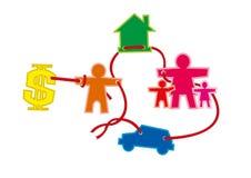 Family. Cartoon Family on white background Royalty Free Stock Image
