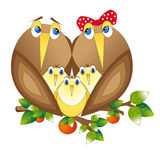 Family. Two birds look at each other a loving look royalty free illustration