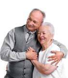 Family. Senior men with old women on white background Royalty Free Stock Images