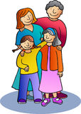 Family 3. Mother, father and two daughters standing up Royalty Free Stock Photography