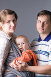 Family. The daddy, mum and I - such here family Royalty Free Stock Photography