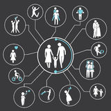 Family. Network, mind mapping, info graphics Stock Photo