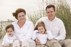 Family. Portrait on the Beach stock image