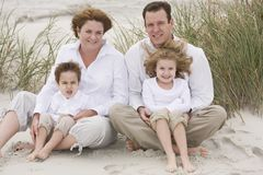Family. Portrait on the Beach stock images