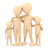 Family. 3d image. Royalty Free Stock Photography