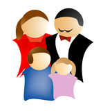 Family. Illustration for a small family Stock Illustration