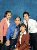 Family. Portrait of an Asian family Stock Photography