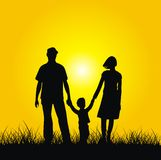 Family. Silhouette of family - mother, father and son. Vector Royalty Free Stock Photo