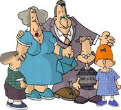Family. This illustration that I created depicts a family Stock Image
