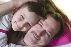 Family. Son with father stock image