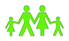 Family. Green gel button family Royalty Free Stock Images
