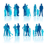 Family. Illustration of 8 beautiful family in vector files Royalty Free Stock Image