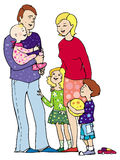 Family. Together vector illustration