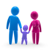 Family. Father, child and mother walks hand in hand Royalty Free Stock Images