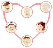 Family. Heart stock illustration