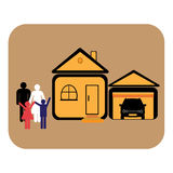 The family. Buy house and car Stock Photo