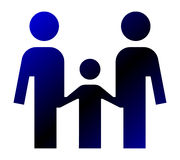 Family. Icon - concept of unity Royalty Free Stock Photo