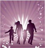 Family. Happiness walks vector illustration Stock Image