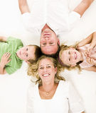 Family from above Stock Photo