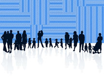 Family and abstract. Illustration of family and abstract Stock Photo