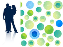 Family and abstract. Illustration of family and abstract Royalty Free Stock Image