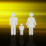 Family on  abstract  Colorful elegant on abstract background Stock Photo