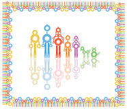Family abstract  illustration. Composition over a white background Stock Photo