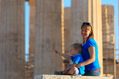 Family in Acropolis, Athens Stock Photos