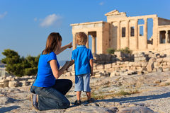 Family in Acropolis, Athens Stock Photo