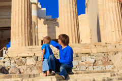 Family in Acropolis, Athens, Greece Stock Image
