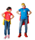 Family acting as super hero Royalty Free Stock Photo