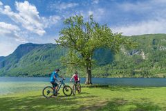 Family active vacation. Green destination. Stock Photography